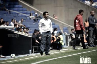 David Gallego, en su estreno el RCDE Stadium contra Las Palmas / Foto: Noelia Déniz (VAVEL)