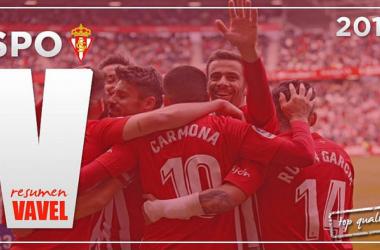 Resumen de la temporada 2017/18: Sporting de Gijón, los sueños nacen en Mareo // Fotomontaje: VAVEL