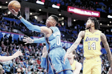 Lakers anula a OKC en la prórroga