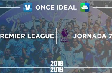 Once ideal SofaScore, jornada 7 Premier League 2018/19