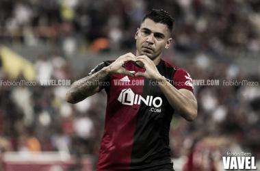 Duque abrió el marcador | Foto: Fabián Meza / VAVEL