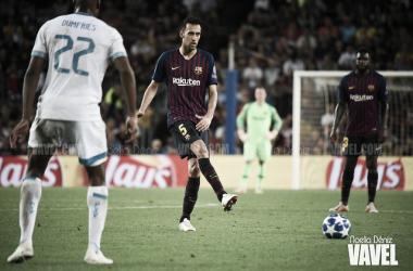 Imagen de Sergio Busquets, jugador del FC Barcelona. FOTO: Noelia Déniz.