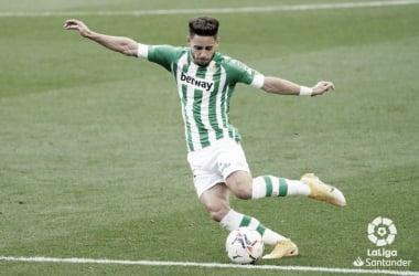 En el Camp Nou, Álex Moreno ha dado su primera asistencia este curso