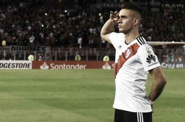 El soldado Borré se ganó la confianza de Gallardo a bases de goles (Foto: River Oficial).