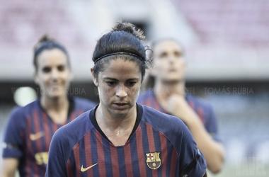 Marta Torrejón ante el Chelsea en pretemporada | Fuente: Tomás Rubia (VAVEL)