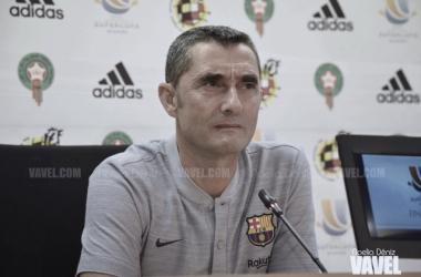Ernesto Valverde en una rueda de prensa previa | Foto de Noelia Déniz, VAVEL