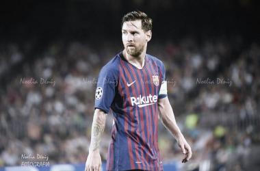 Leo Messi en Champions ante el PSV | Foto: Noelia Déniz (VAVEL)