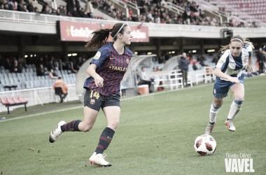 Aitana Bonmatí en el Barcelona - Espanyol de Copa de la temporada pasada | Foto: Noelia Déniz (VAVEL)