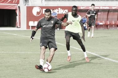 Mercado en el entrenamiento   Foto: Sevilla FC