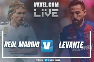Real Madrid y Levante UD se miden en el Santiago Bernabéu. I Montaje: Aitor Sánchez-Rey (VAVEL)