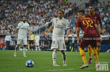 Luka Modric durante el partido de ida | Foto: Pablo Rodríguez (VAVEL)