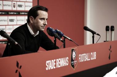 Julien Stéphan, ex-treinador do Rennes | Divulgação/SRFC