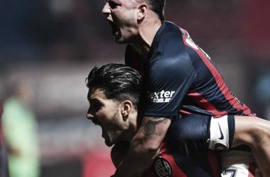 San Lorenzo festejó sobre el final