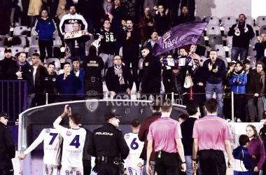 Los jugadores del Real Jaén buscando la bocana de vestuarios (Real Jaén - Best Photo Soccer)