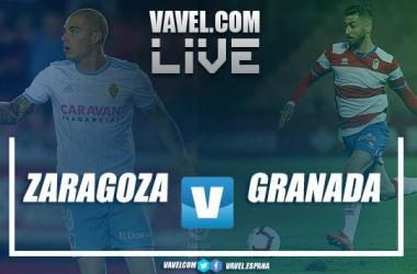 Real Zaragoza vs Granada CF en vivo y en directo online en LaLiga 1|2|3 2018. | Imagen: VAVEL