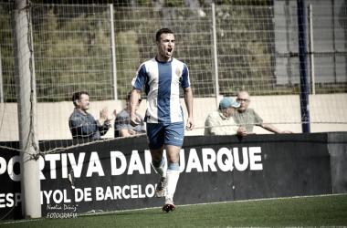 Pedrosa, en un partido con el Espanyol B / Foto: Noelia Déniz (VAVEL).