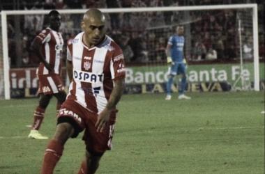 Zabala durante el empate 2 a 2. Foto: Club Atlético Unión.