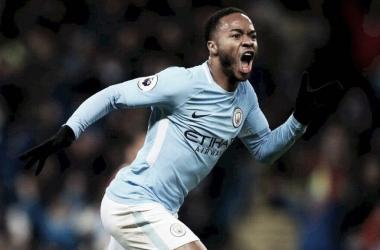 Sterling el jugador destacado de la jornada. Foto: Manchester City