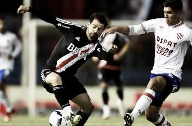 Rodrigo Mora y Nahuel Zárate. Foto: River Plate.