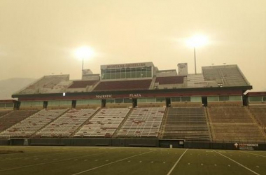 Despite poor air quality in Missoula, the game went on Saturday to kick off the season - Greg Rachac/Billings Gazette