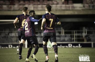 Wagué y Carles Pérez ante el Valencia Mestalla | Foto: Noelia Déniz (VAVEL)