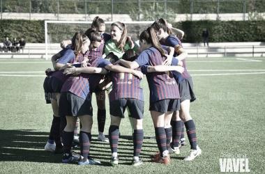 Las chicas del filial culé logran la clasificación para Primera División B. FOTO: Noelia Déniz