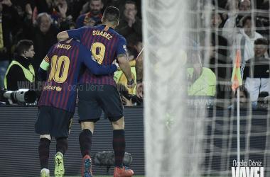 Luis Suárez y Messi fueron los autores de los goles ante el Atlético | Foto: Noelia Déniz - VAVEL