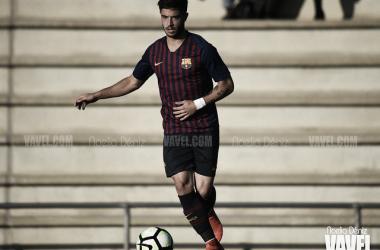 Álvaro Sanz, jugador del FC Barcelona Juvenil A. FOTO; Noelia Déniz