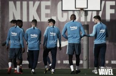 Los jugadores del FC Barcelona en un entrenamiento. FOTO: Noelia Déniz