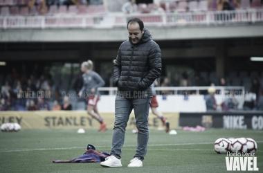 Lluís Cortés durante el partido de semifinales ante el Bayern | Fuente: Noelia Déniz (VAVEL)