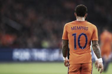 Depay é a maior estrela da seleção holandesa. // Fonte: zerozero.pt