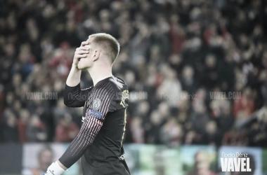 Ter Stegen tras la derrota en Anfield | Foto: Noelia Déniz (VAVEL)