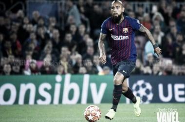Arturo Vida disputando un partido con el FC Barcelona. FOTO: Noelia Déniz