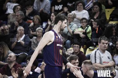Ante Tomic durante el partido ante Movistar Estudiantes de la Liga Endesa 2018-2019. Fuente: Noelia Déniz (Vavel.com)