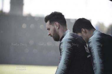 Leo Messi y Luis Suárez durante un entrenamiento | Foto de Noelia Déniz, VAVEL