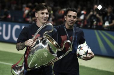 """""""É uma vergonha que o comparem a qualquer outro"""", diz Xavi, sobre Messi (Foto: Patrik Stollarz/AFP)"""