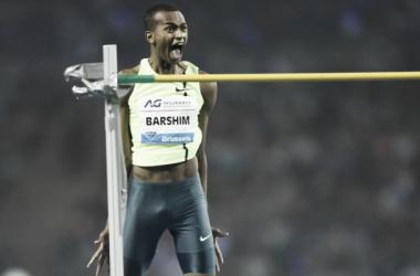 Le sauteur en hauteur Barshim après avoir franchi 2.43 mètres - ©AFP