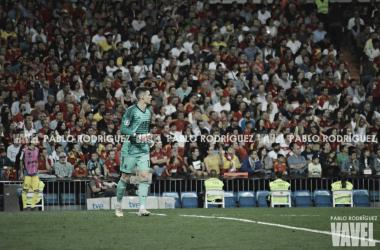 Kepa durante el partido clasificatorio ante Suecia en Madrid | Fotografía: Pablo Rodríguez (VAVEL)