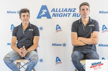 Marc Márquez y Álex Márquez en la rueda de prensa de la Allianz Night Run./ Foto: allianznightrun.com