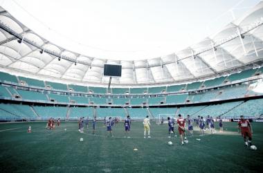 Diante do torcedor, Bahia busca espantar má fase contra o embalado Flamengo (Foto: Felipe Oliveira / EC Bahia)