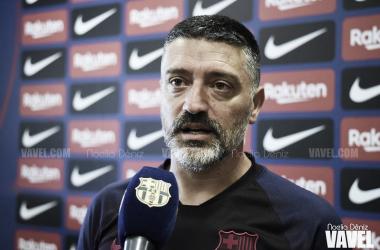 García Pimienta, entrenador del FC Barcelona B. FOTO; Noelia Déniz