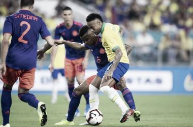 No retorno de Neymar, Brasil empata com a Colômbia em Miami