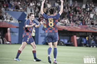 Marta Torrejón, autora de uno de los goles culés. FOTO: Noelia Déniz