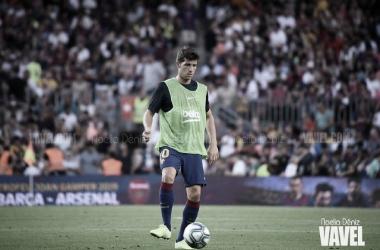 Sergi Roberto, lesionado ante el Eibar. FOTO: Noelia Déniz