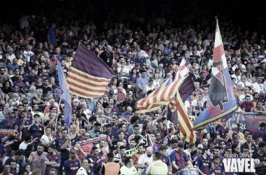 La afición del Camp Nou, clave para el éxito culé en Champions. FOTO: Noelia Déniz