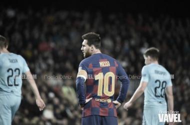 Messi y los suyos volvieron a verse superados ante un Slavia que plantó cara en el Camp Nou. FOTO: Noelia Déniz
