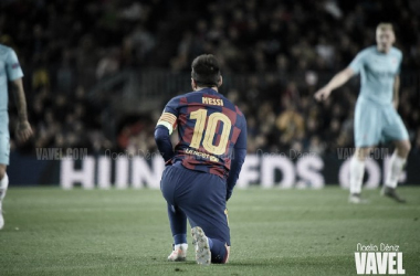 Messi decidió ante el Celta. FOTO:Noelia Déniz