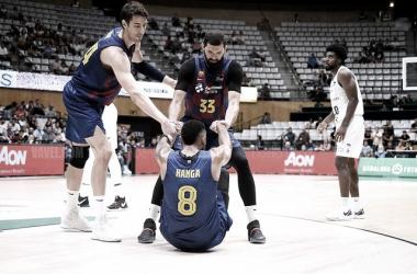 El Barcelona durante la final de la Lliga Catalana (VAVEL)