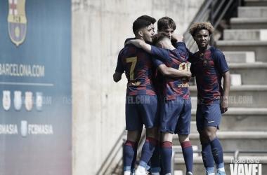El FCB Juvenil A contra el Girona. Foto: Noelia Déniz, VAVEL