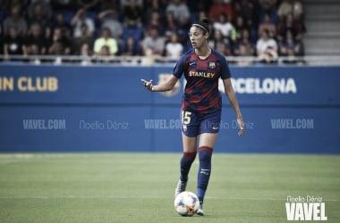 Leila Ouahabi, jugadora del FC Barcelona Femenino. FOTO: Noelia Déniz